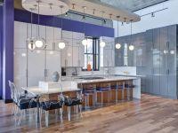 This oversized kitchen island provides plenty of seating ...
