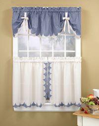 Kitchen Curtains | Tabitha 3-Piece Kitchen Curtain Tier ...
