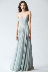 Adeline in Morning Mist by Jenny Yoo. Light blue strapless