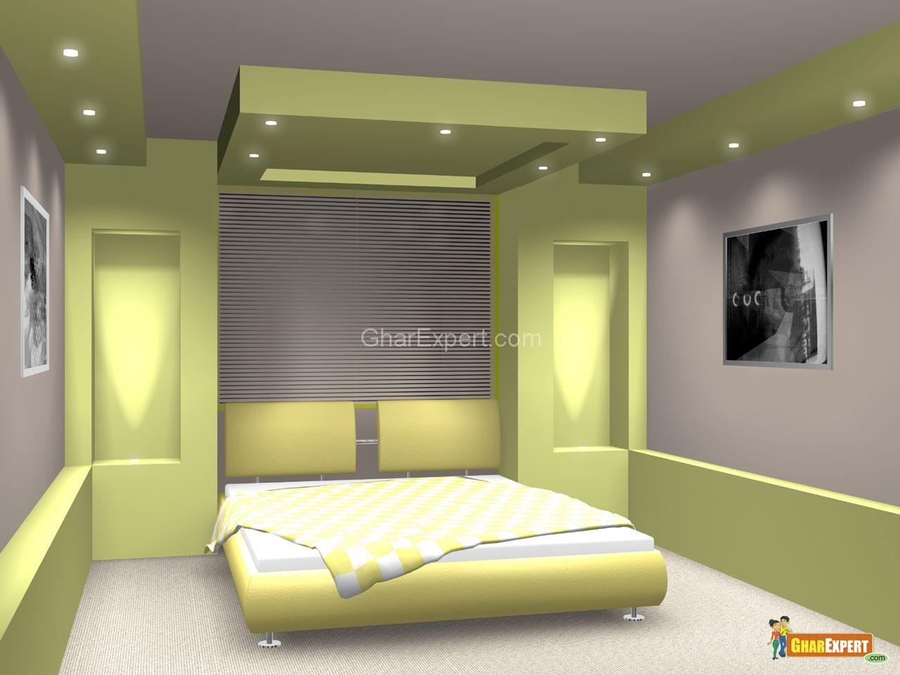 Ceiling Design For Small Room Green Pop Ceiling Colors With Lighting For Bedroom