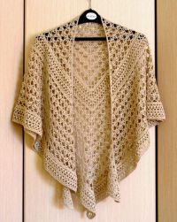Lace Crochet Shawl Beige Wrap Shawl Gift For Women Mom ...