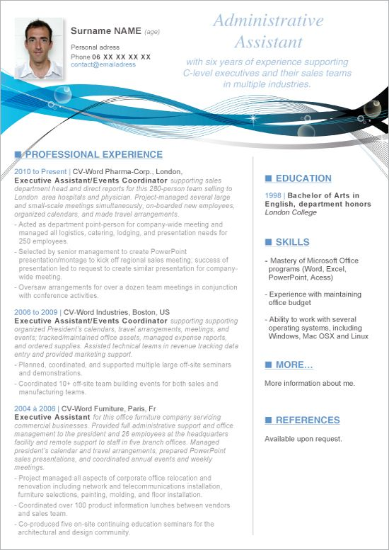 Download this Microsoft Word resume administrative assistant - administrative assistant resume templates