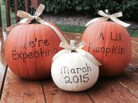 Baby announcement idea - cute fall baby announcement with ...