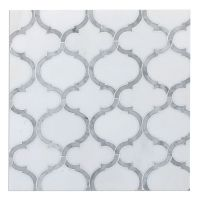 Marrakech Arabesque Lantern Mosaic Tile Carrara & Thassos