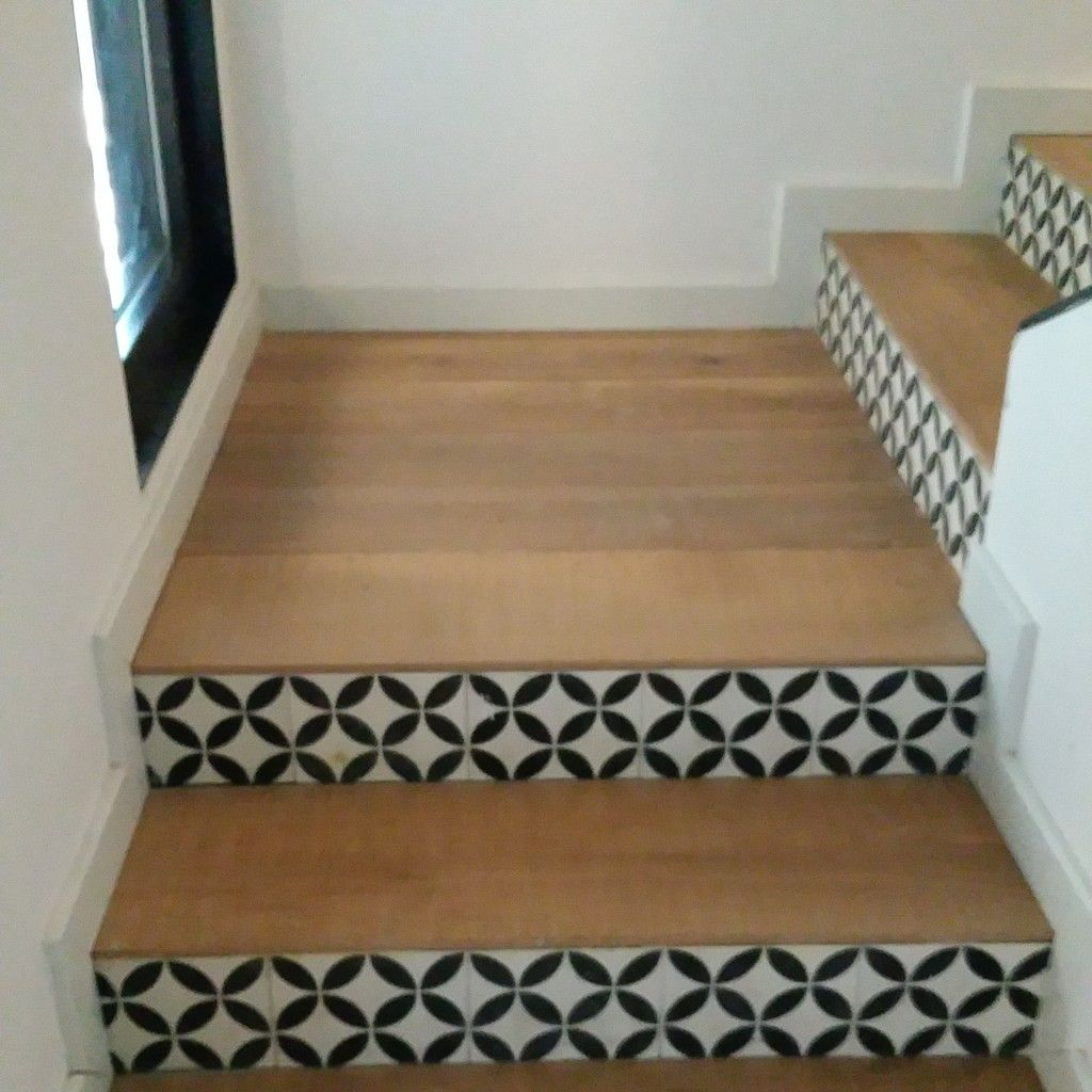 Pose Carreaux Ciment Parquet Et Carreaux De Ciment Escaliers Pinterest