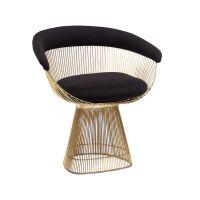 Platner Dining Chair in Gold   Mid century modern design ...