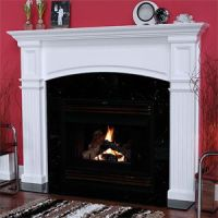 Monarch 51-In x 36-In Wood Fireplace Mantel Surround ...
