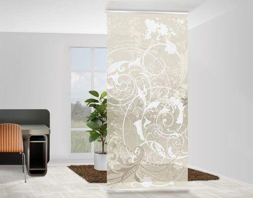 Raumteiler Vorhang Perlmutt Ornament Design 250x120cm
