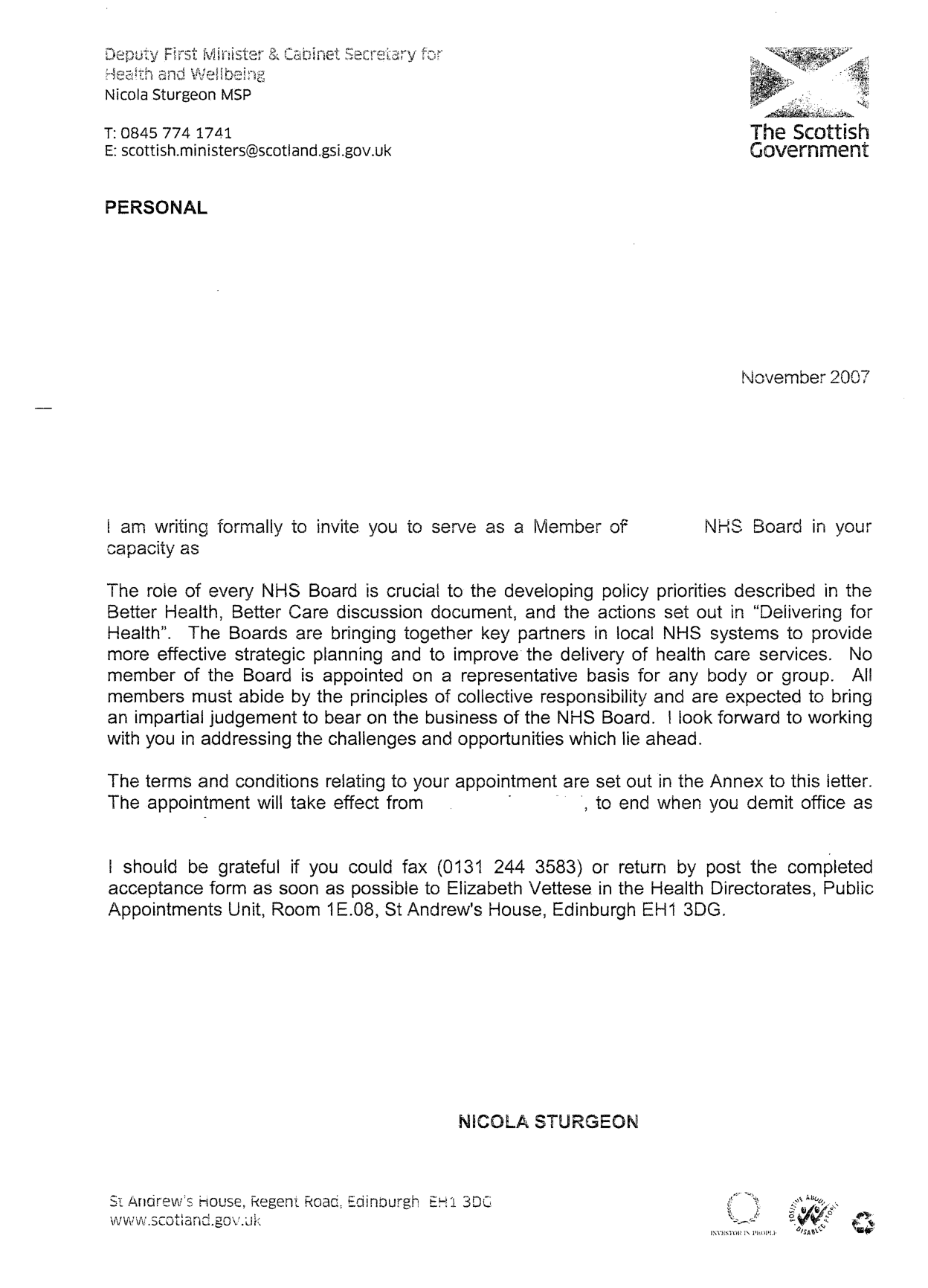nhs recommendation letter example