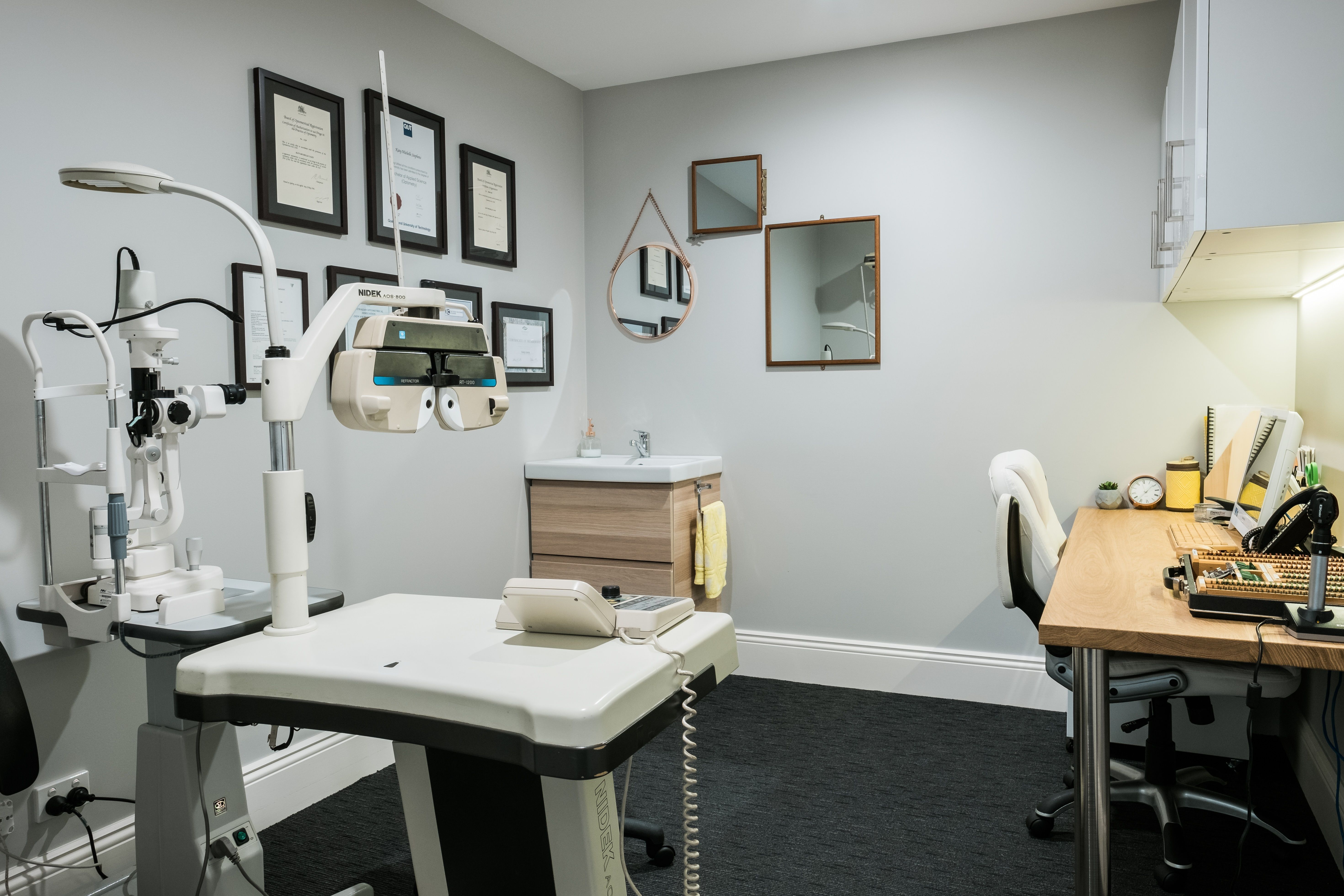 Office Furniture Central Coast Retail Interior Fitout Optometry Consulting Room Esd