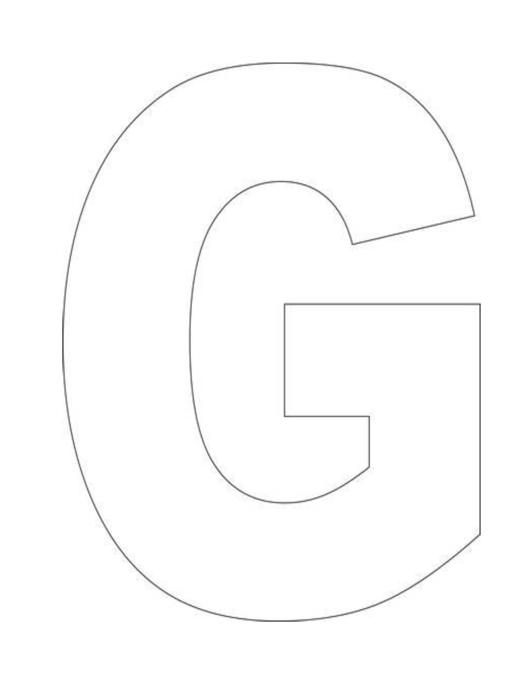Sjabloon Letters Groot Alphabet Letter G Template For Kids 3 Year Old Growing