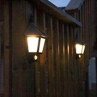 LED Solar Wall Light Outdoor Solar Wall Sconces Vintage ...