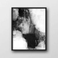 Scandinavian Print, Abstract Wall Art Prints, Black ...