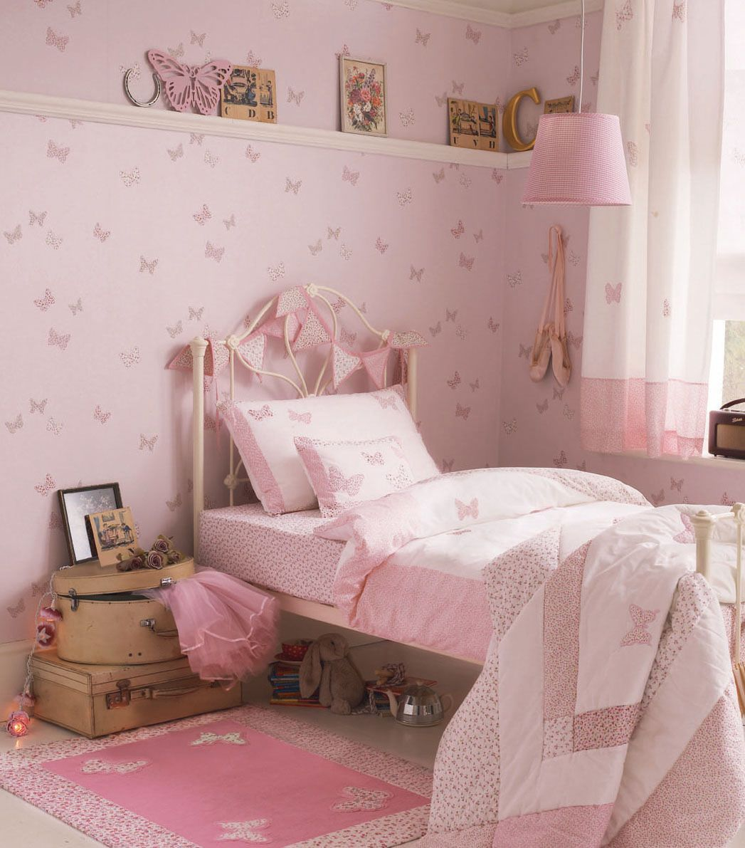 Butterfly Bedroom Themes Dream Girls Room With Laura Ashley Bella Butterfly
