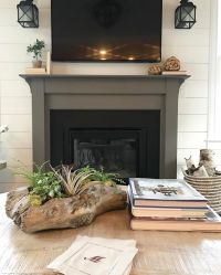 The fireplace surround is painted in Sherwin Williams ...