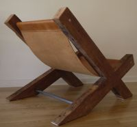 Reclaimed Wood and Leather Lounge Chair. Handmade Lounge ...
