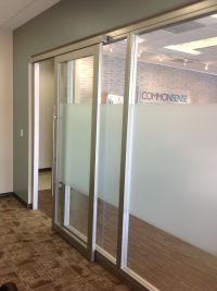 Glass office walls with sliding door by Nello | Nello Wall ...