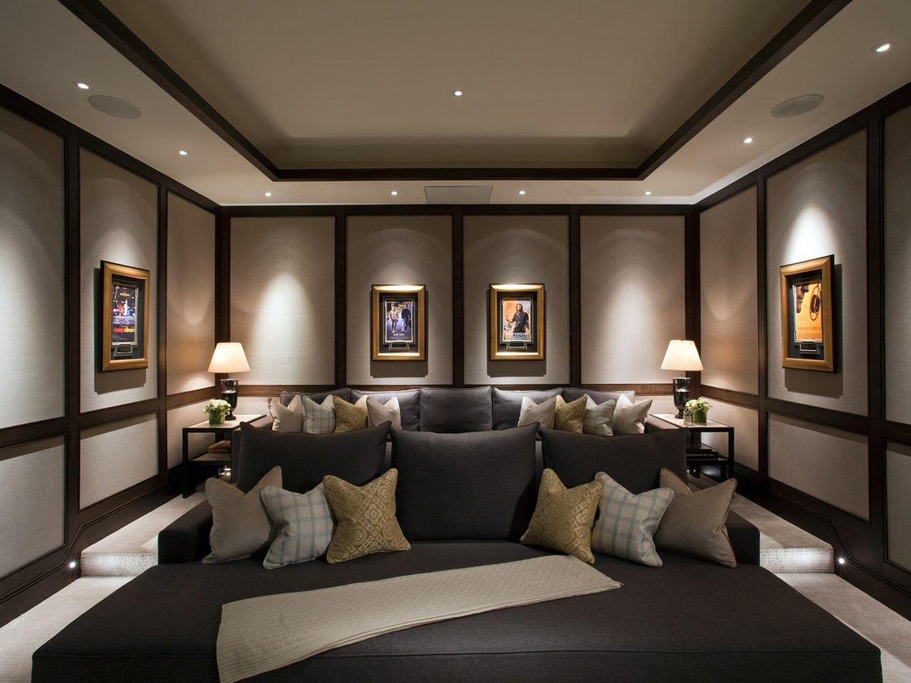 Theatre Room Furniture Downlights At Their Best When Lighting Artwork Furniture