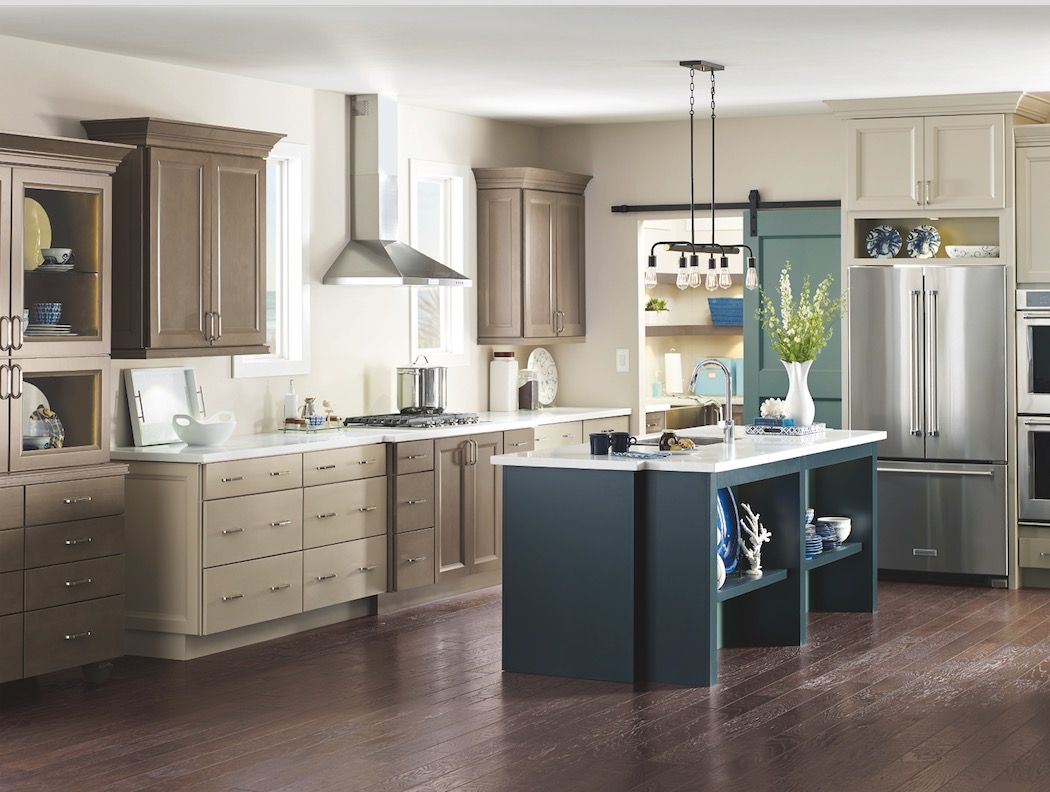 Mixing Kitchen Cabinet Colors Turn Heads By Mixing Complementary Finishes Like This