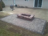 Oaks Laredo Rectangle Fire Pit. Paver apron is made with ...