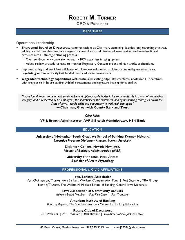 Award-Winning CEO Sample Resume - CEO Resume Writer - Executive - examples of winning resumes