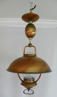 Vintage 1960's hanging ceiling light, pull down ...