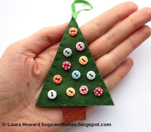 Bugs and Fishes by Lupin How To Felt Christmas Tree Ornaments - felt christmas decorations