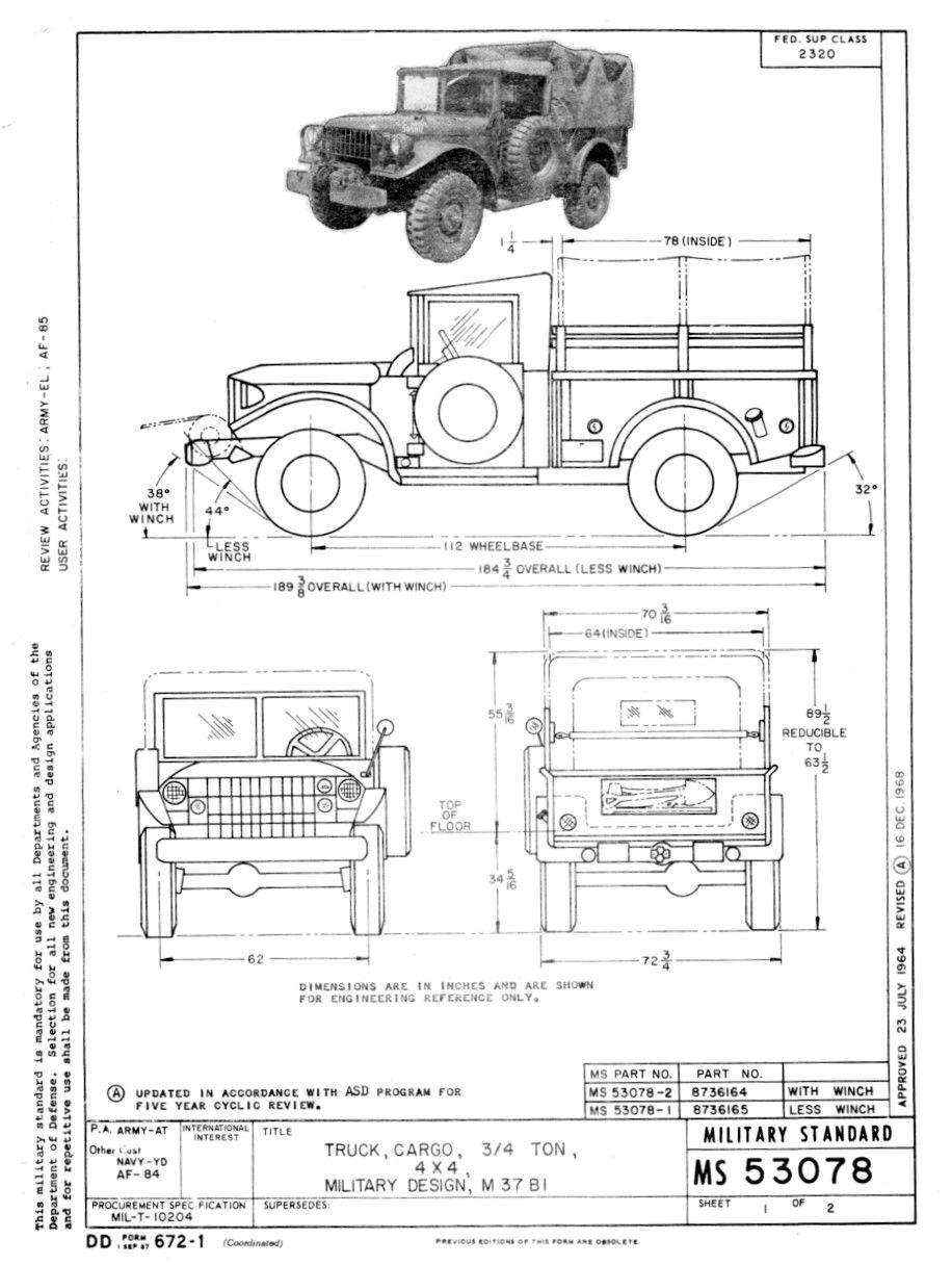 dodge m37 power wagon trucks pinterest