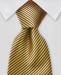 Gold & Black II Striped Tie | Bowties