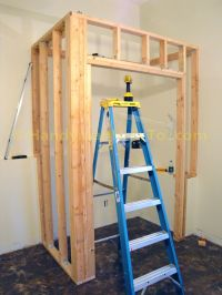 Basement Closet Framing: Door Rough Opening Cripple Studs ...