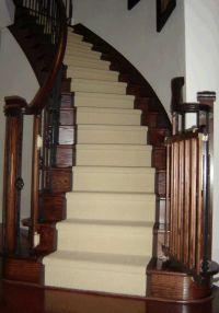 Dark oak stairs and risers, light stair runner   Stairs ...