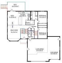 Bi-Level House Plan with a Bonus Room 2010542 by E-Designs ...
