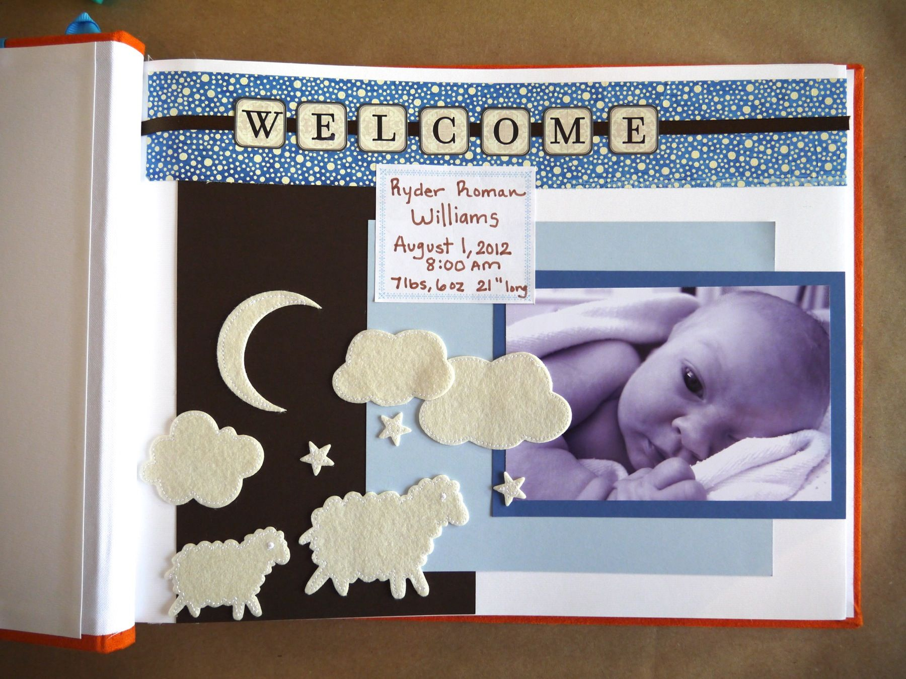 How to make a baby s first year scrapbook