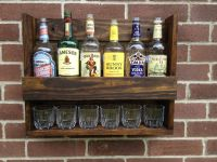 Liquor Cabinet Hanging and Rustic by CoolAndUsefulThings ...