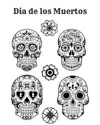 Free Printable Dia De Los Muertos Coloring Page | Dia De ...