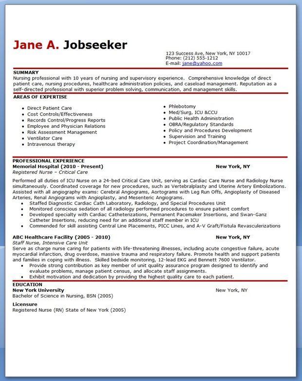 sample resume experience