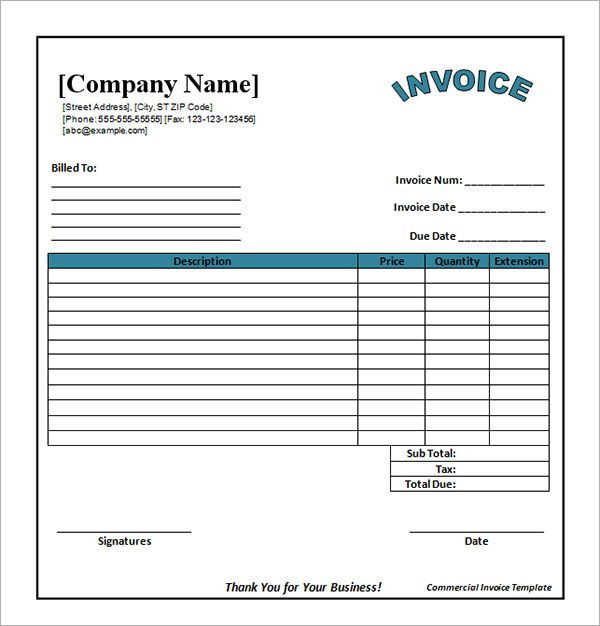 Pdf Invoice Templates Free Download invoice Pinterest - free invoice form template