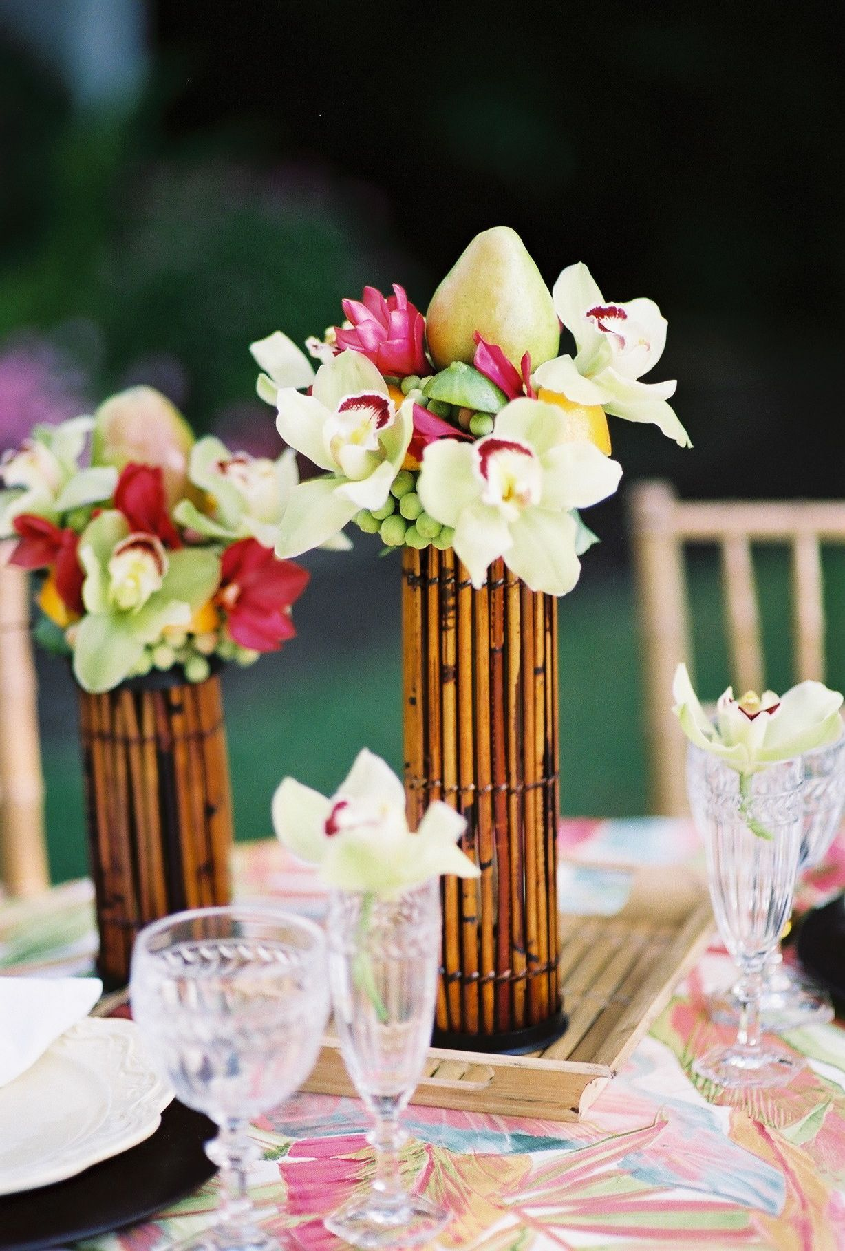 Bamboo Vase Decoration Bamboo Centerpieces Wedding Ideas Pinterest Floral