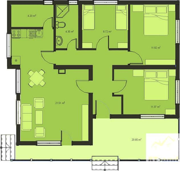 New Small 3 Bedroom House Plans With Newly Built 3 Bedroom House - 3 bedroom house plans