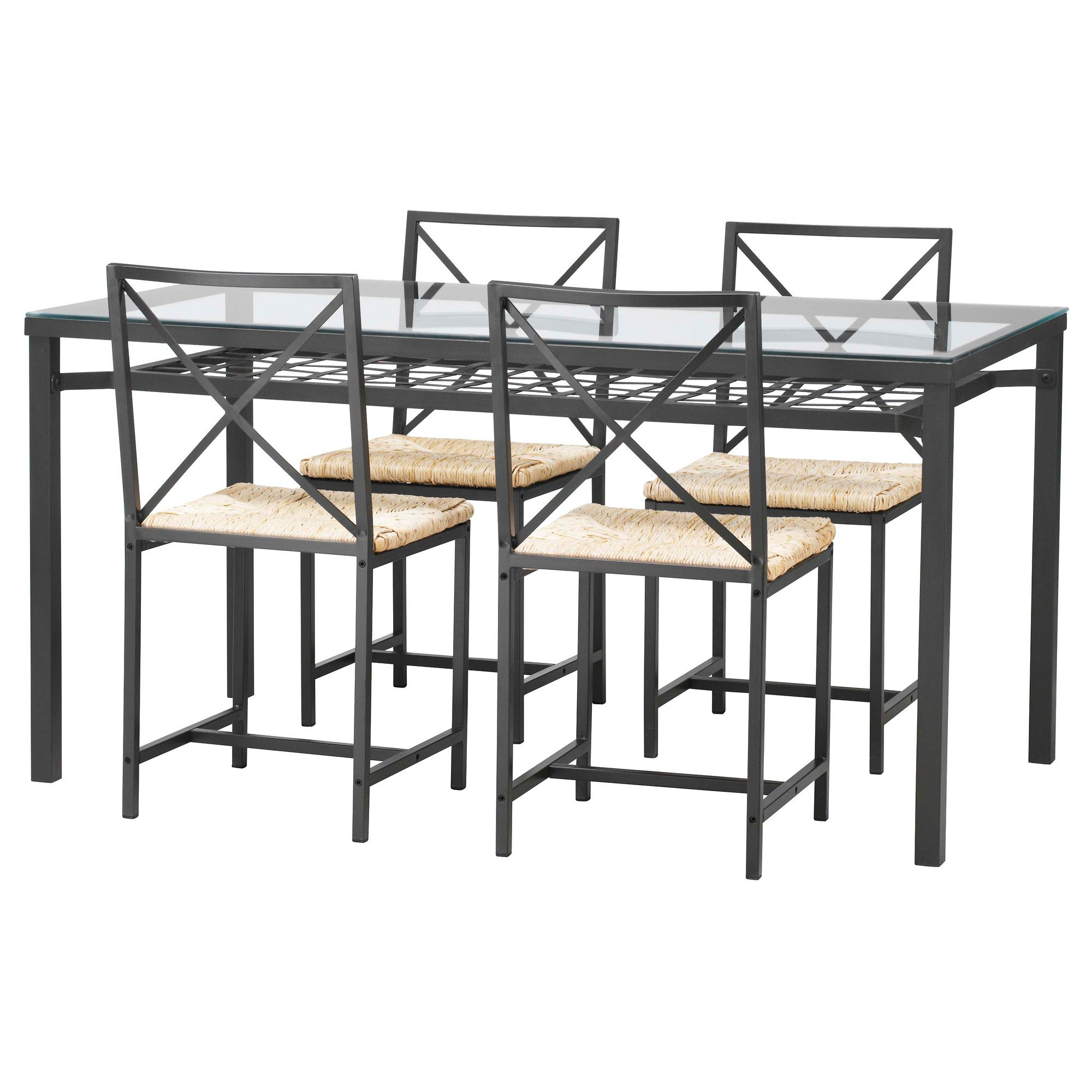 Ikea Table Chairs Glass Table And 4 Chairs @ Ikea For $180. There's A Shelf