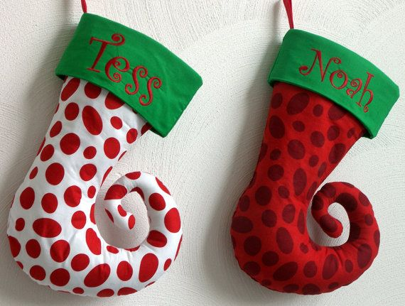 Whimsical Personalized Dr Suess Christmas Stocking by MaisieandMoe - dr seuss christmas decorations
