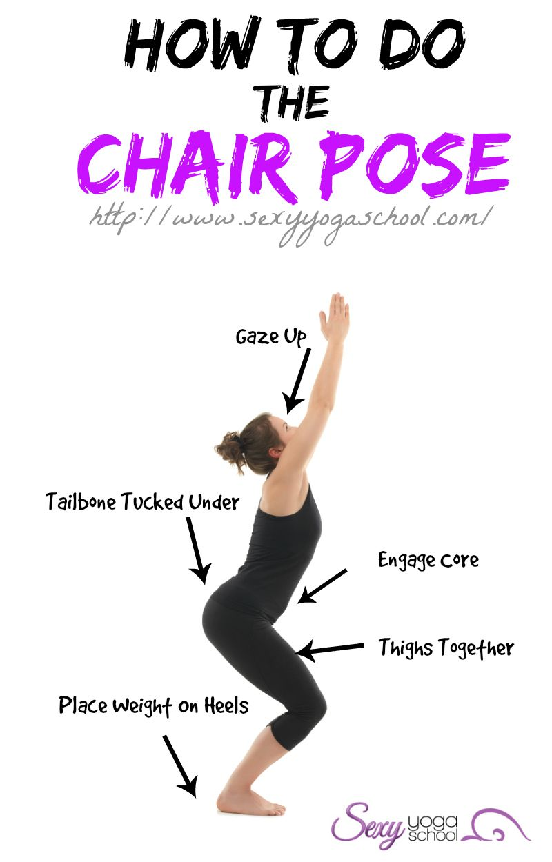 The chair pose is one of the yoga poses you will learn in the start of