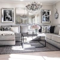 Living Room decor ideas - glamorous, chic in grey and pink ...