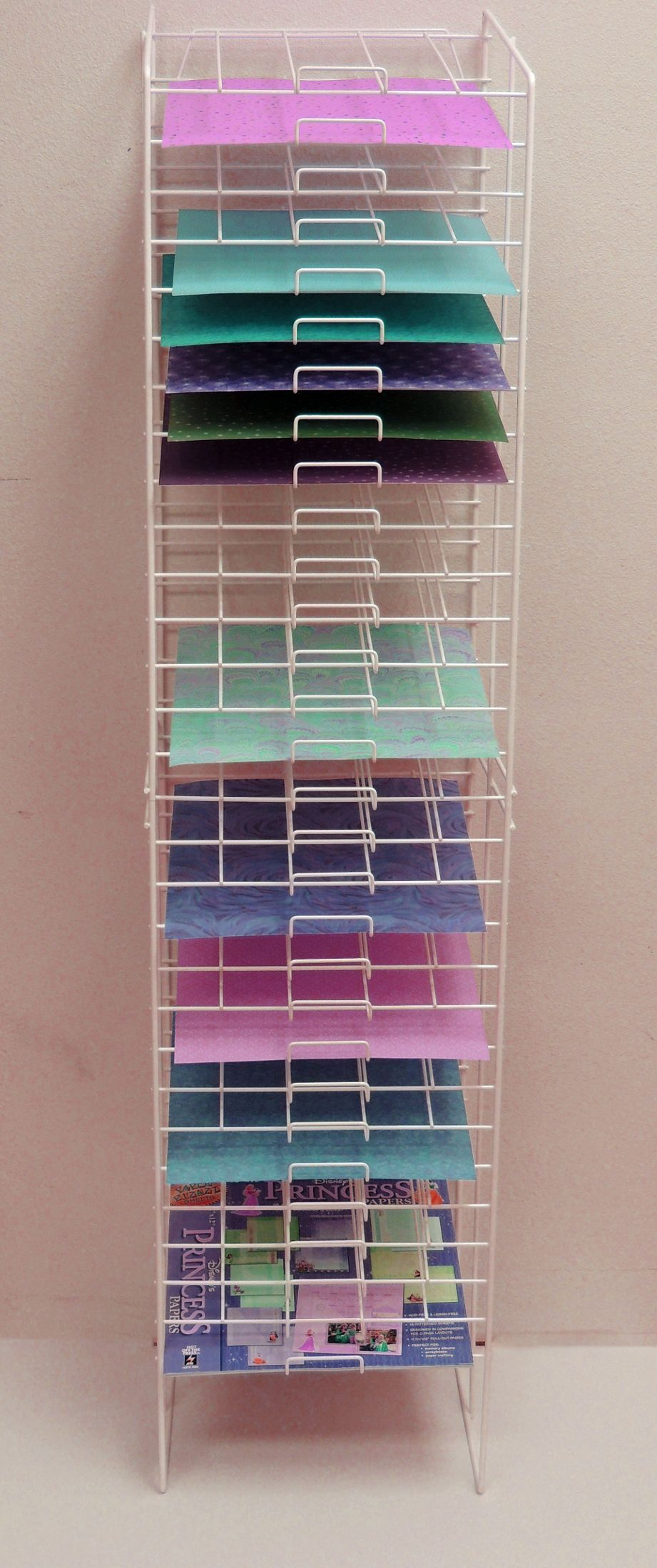 Wire rack paper storage also great for storing sheets of vinyl more