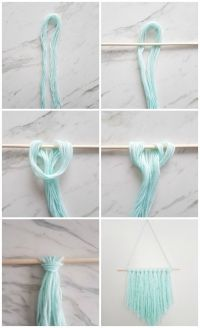 How to Make an Easy DIY Wall Hanging with Yarn | Diy wall ...