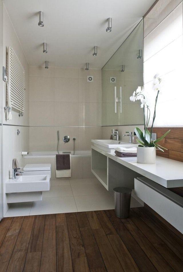 badezimmer modern einrichten cremefarbene fliesen weiße möbel - weies badezimmer modern gestalten