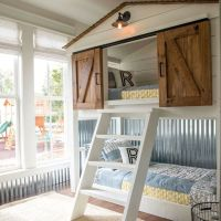 This custom-built bunk bed for the Matsumoto house was ...