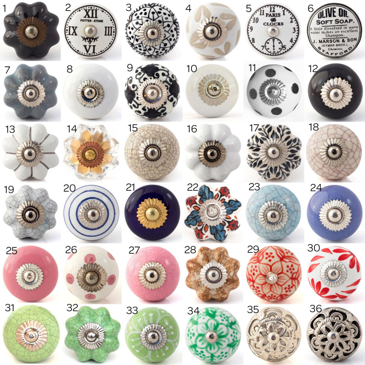 Kitchen Cabinet Knobs Ceramic Ceramic Porcelain Door Knobs Various Multi Coloured
