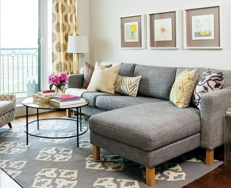 20 of The Best Small Living Room Ideas Grey sectional sofa, Grey - small living room chairs