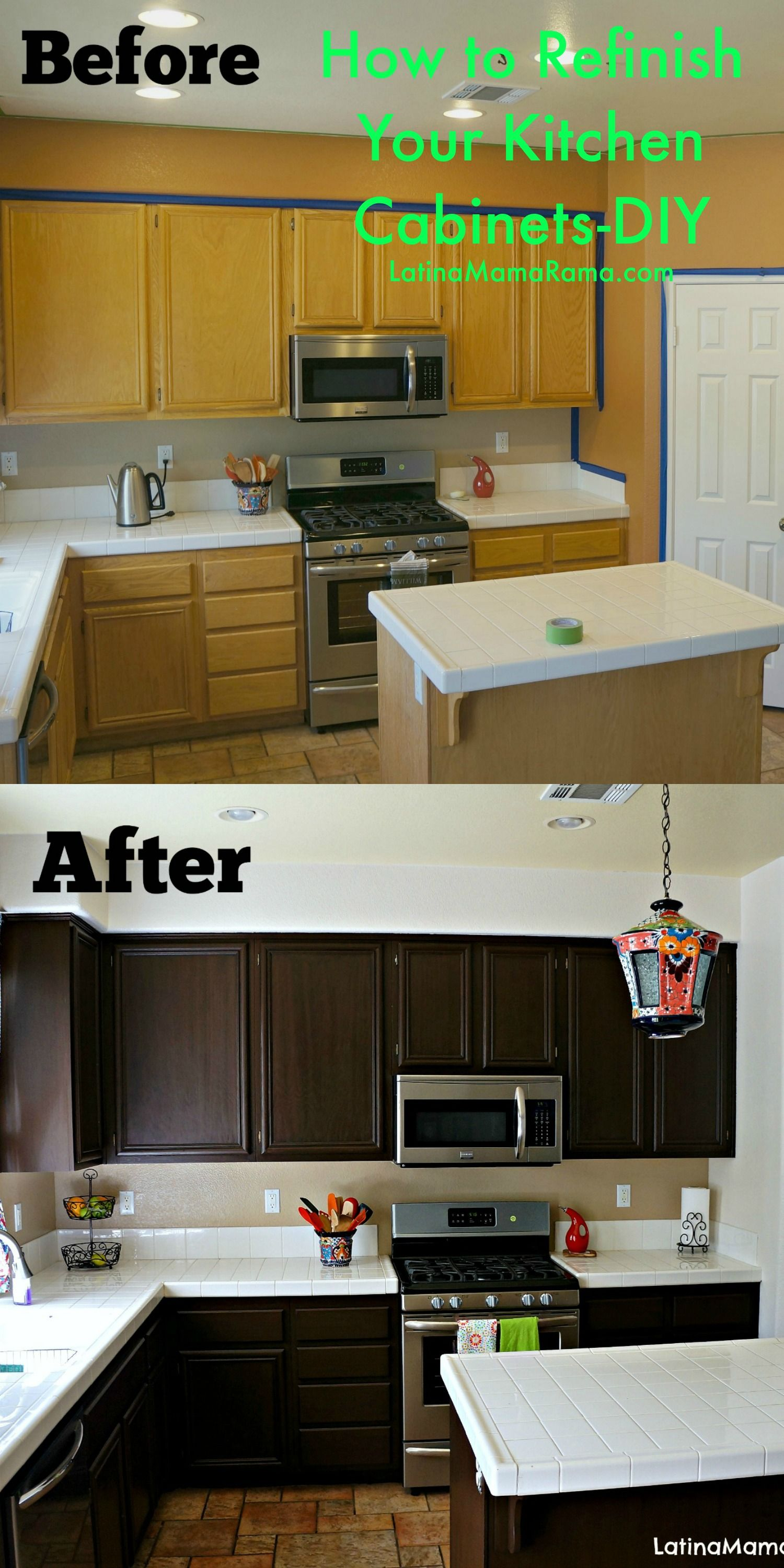 refinish kitchen cabinets How to Refinish Your Kitchen Cabinets